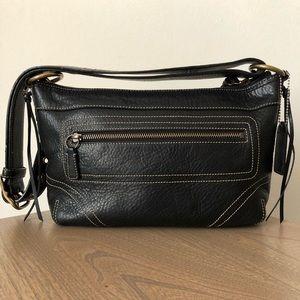 Coach Black Pebbled Leather Vintage Bag 10559